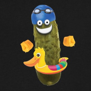 Swim Pickle - Men's V-Neck T-Shirt by Canvas