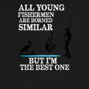 FISHING BEST ONE - Men's V-Neck T-Shirt by Canvas