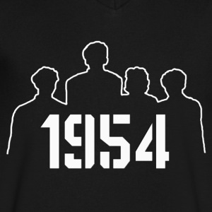 1954 - Men's V-Neck T-Shirt by Canvas
