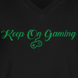 Keep On Gaming - Men's V-Neck T-Shirt by Canvas