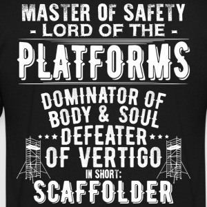 Scaffolder/Scaffold/Scaffolding/Vertigo/Staging - Men's V-Neck T-Shirt by Canvas