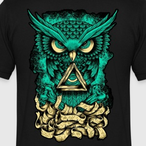 Illuminati Owl - Men's V-Neck T-Shirt by Canvas