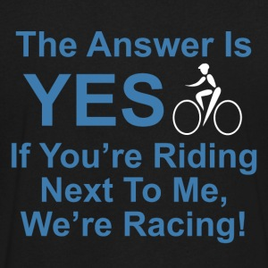 Yes We're Racing - Men's V-Neck T-Shirt by Canvas