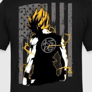 American super saiyan goku t shirt - Men's V-Neck T-Shirt by Canvas