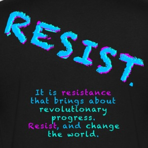 Resist with Subtext - Men's V-Neck T-Shirt by Canvas