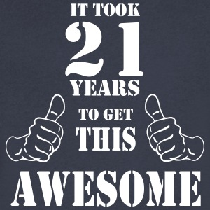 21st Birthday Get Awesome T Shirt Made in 1996 - Men's V-Neck T-Shirt by Canvas