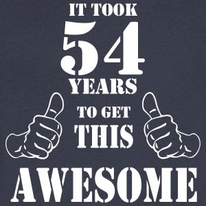 54th Birthday Get Awesome T Shirt Made in 1963 - Men's V-Neck T-Shirt by Canvas