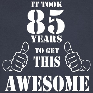 85th Birthday Get Awesome T Shirt Made in 1932 - Men's V-Neck T-Shirt by Canvas