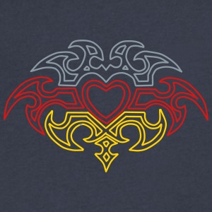 Heart Tribal Design - Men's V-Neck T-Shirt by Canvas