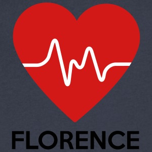 Heart Florence - Men's V-Neck T-Shirt by Canvas