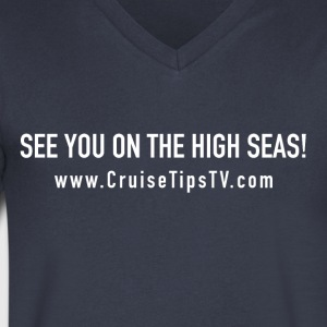 See You On the high Seas White - Tommy's Style - Men's V-Neck T-Shirt by Canvas