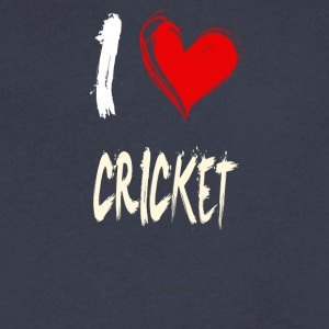 I love CRICKET - Men's V-Neck T-Shirt by Canvas