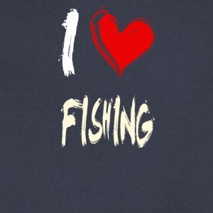 I love FISHING - Men's V-Neck T-Shirt by Canvas