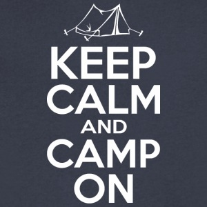 Keep Calm And Camp On - Men's V-Neck T-Shirt by Canvas