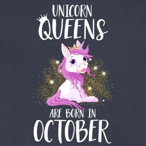 UNICORN QUEENS ARE BORN IN OCTOBER - Men's V-Neck T-Shirt by Canvas