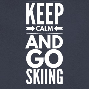 KEEPCALMSKIING - Men's V-Neck T-Shirt by Canvas