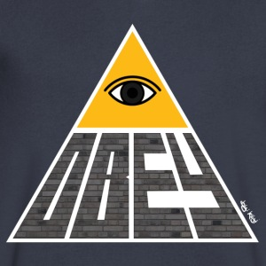 Obey Pyramid - Men's V-Neck T-Shirt by Canvas