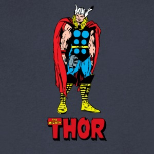 Full Colored 80's The Mighty Thor - Men's V-Neck T-Shirt by Canvas