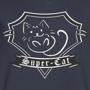 Super Cat T-Shirt 2 - Men's V-Neck T-Shirt by Canvas