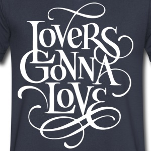 Lovers gonna love - Men's V-Neck T-Shirt by Canvas