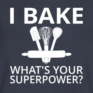 I Bake What's Your Superpower? - Men's V-Neck T-Shirt by Canvas