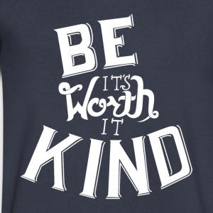 Be Kind - Men's V-Neck T-Shirt by Canvas