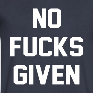 NO FUCKS GIVEN - Men's V-Neck T-Shirt by Canvas