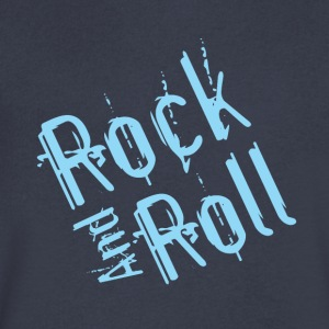 rock and roll - Men's V-Neck T-Shirt by Canvas