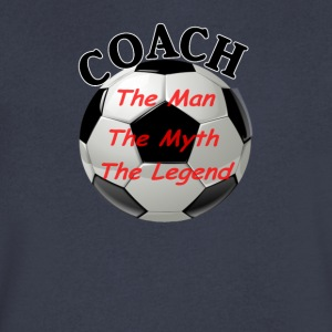 Soccer Coach The Man The Myth The Legend - Men's V-Neck T-Shirt by Canvas
