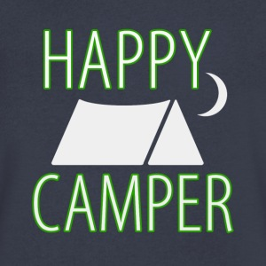 Happy Camper - Men's V-Neck T-Shirt by Canvas