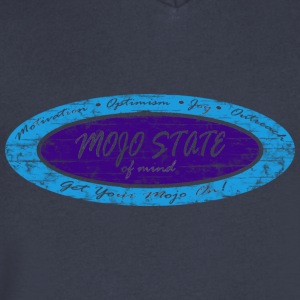MOJO STATE of mind - Men's V-Neck T-Shirt by Canvas