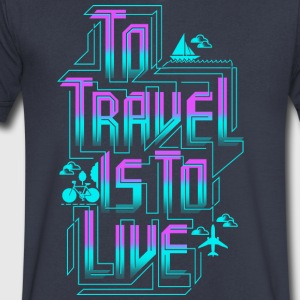 To travel T Shirt - Men's V-Neck T-Shirt by Canvas