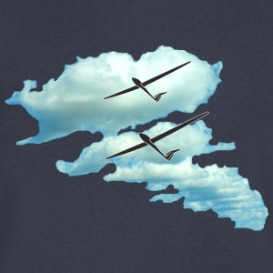 cloud glider pilot gliding sport - Men's V-Neck T-Shirt by Canvas