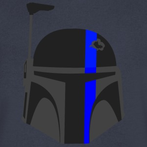 Thin Blue Line - Boba Fett - Men's V-Neck T-Shirt by Canvas