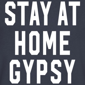Stay at Home Gypsy Clothing Gypsy Shirt For Men an - Men's V-Neck T-Shirt by Canvas