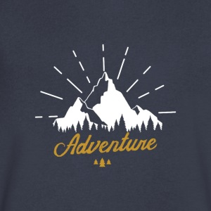 Adventure T-shirts Tees and Products - Men's V-Neck T-Shirt by Canvas