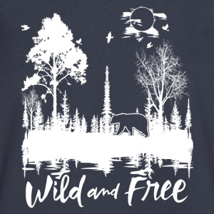 Wild and Free Products - Men's V-Neck T-Shirt by Canvas
