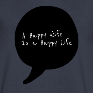 Happy Life - Men's V-Neck T-Shirt by Canvas