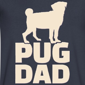 Pug Dad - Men's V-Neck T-Shirt by Canvas