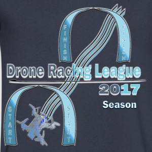 Drone Racing League - Men's V-Neck T-Shirt by Canvas