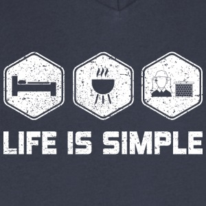 LIFE IS SIMPLE - BEEKEEPER - Men's V-Neck T-Shirt by Canvas