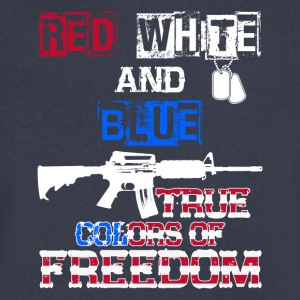 Red White And Blue True Colors Of Freedom Products - Men's V-Neck T-Shirt by Canvas