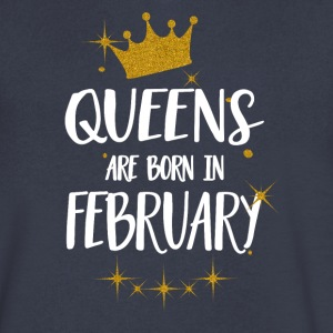 QUEENS ARE BORN IN FEBRUARY - Men's V-Neck T-Shirt by Canvas