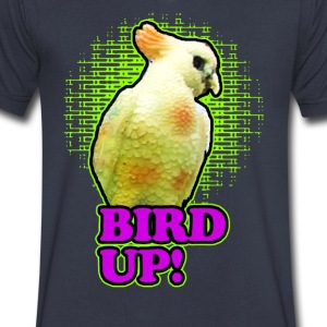 bird up - Men's V-Neck T-Shirt by Canvas