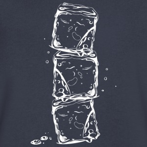 Water splash, ice cubes and water drops. - Men's V-Neck T-Shirt by Canvas