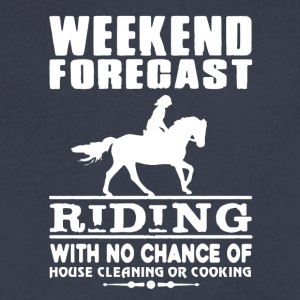 WEEKEND FORECAST RIDING TEE SHIRT - Men's V-Neck T-Shirt by Canvas