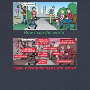 How a feminist sees the world - Men's V-Neck T-Shirt by Canvas