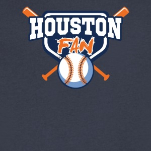 houston shirt - Men's V-Neck T-Shirt by Canvas