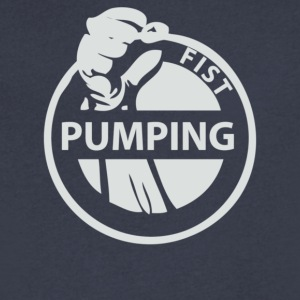Fist Pumping - Men's V-Neck T-Shirt by Canvas