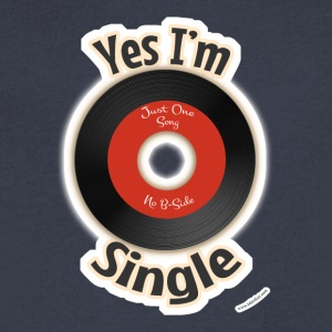 Single Like a 45 Record - Men's V-Neck T-Shirt by Canvas